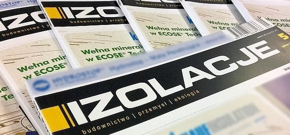 Article on termPIR panels in IZOLACJE monthly